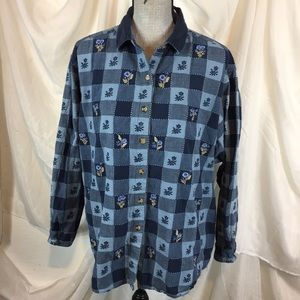 Vintage 90s Victoria Jones Size 2X Cottagecore Top